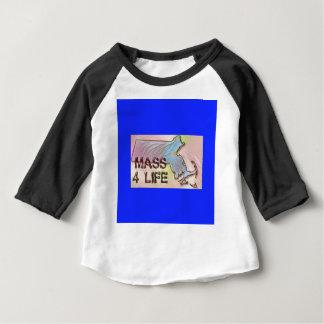 """Massachusetts 4 Life"" State Map Pride Design Baby T-Shirt"