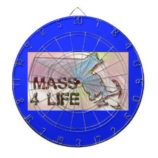 """Massachusetts 4 Life"" State Map Pride Design Dartboard"