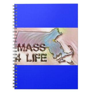 """Massachusetts 4 Life"" State Map Pride Design Notebooks"