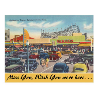 Massachusetts Amusement Center, Salisbury Beach Postcard