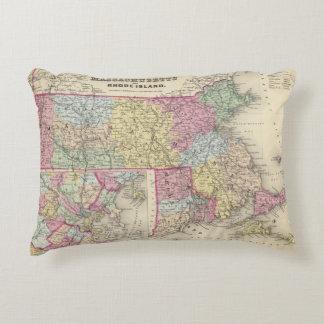 Massachusetts And Rhode Island 2 Decorative Pillow