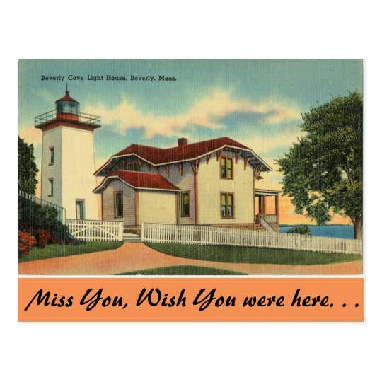 Massachusetts, Beverly Cove Lighthouse Postcard