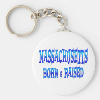 Massachusetts Born & Raised Keychain