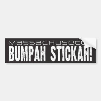 Massachusetts Bumpah Stickah! Bumper Sticker