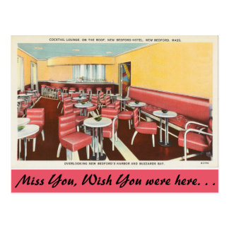 Massachusetts, Cocktail Lounge, New Bedford Postcard