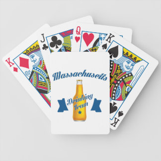 Massachusetts Drinking team Bicycle Playing Cards