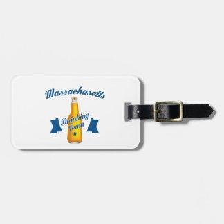 Massachusetts Drinking team Luggage Tag