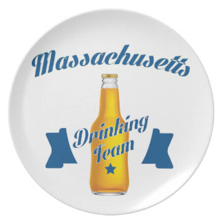 Massachusetts Drinking team Plate