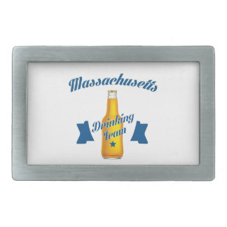 Massachusetts Drinking team Rectangular Belt Buckle