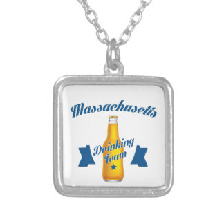 Massachusetts Drinking team Silver Plated Necklace