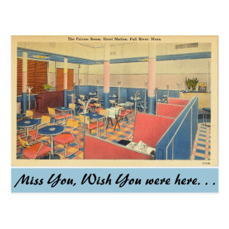 Massachusetts Falcon Room, Fall River Postcard