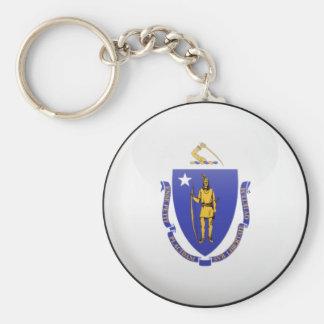 Massachusetts Flag Keychain