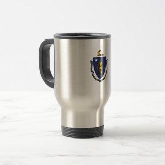 Massachusetts Flag Travel Mug