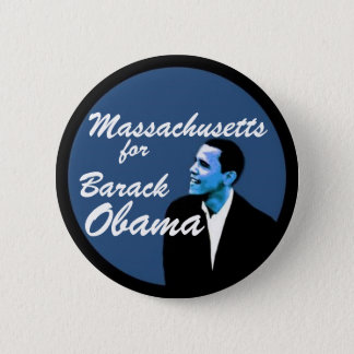 Massachusetts for Barack Obama 2 Inch Round Button