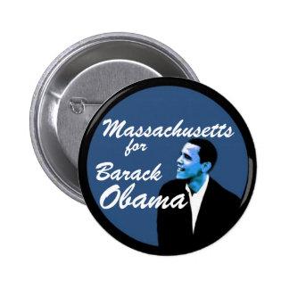 Massachusetts for Barack Obama Pinback Button