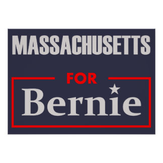 Massachusetts for Bernie Poster