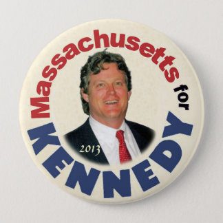 Massachusetts for (Ted) Kennedy (Jr.) 4 Inch Round Button