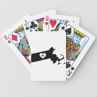 Massachusetts Love Bicycle Playing Cards