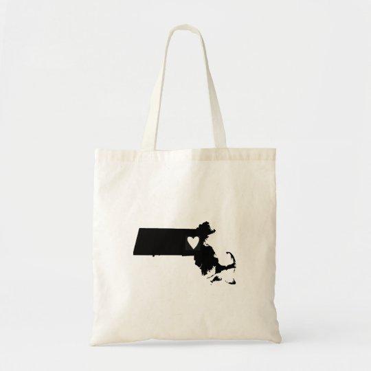 Massachusetts Love Tote Bag