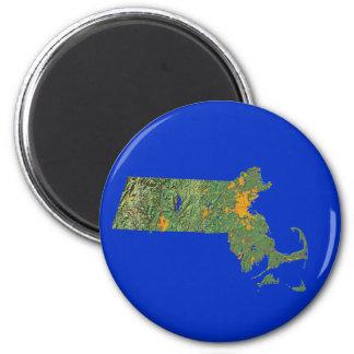 Massachusetts Map Magnet