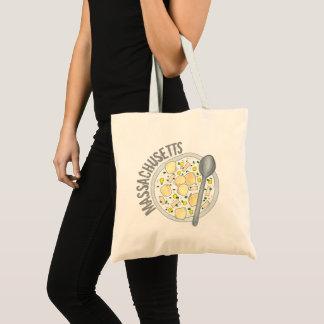 Massachusetts New England Clam Chowder Foodie MA Tote Bag