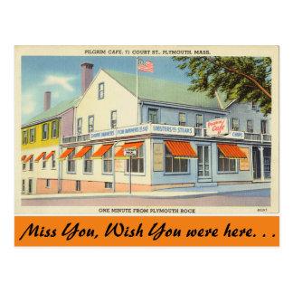 Massachusetts, Pilgrim Cafe, Plymouth Postcard
