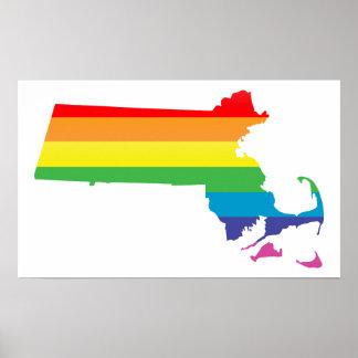 massachusetts pride. poster