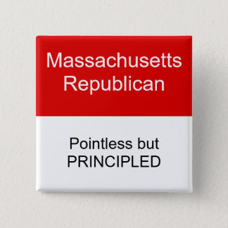 Massachusetts Republican 2 Inch Square Button