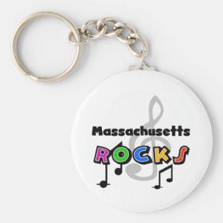 Massachusetts Rocks Keychain