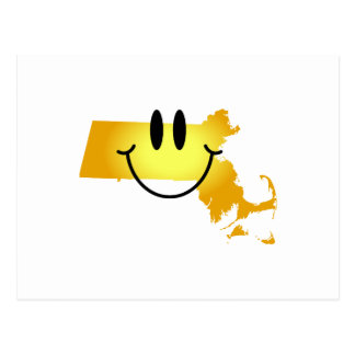 Massachusetts Smiley Face Postcard