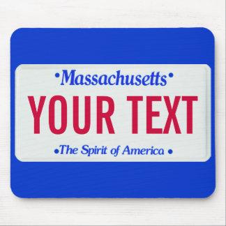 Massachusetts spirit of america license plate mouse pad