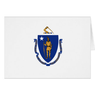 Massachusetts State Flag Card
