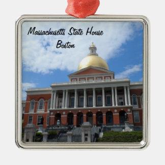 Massachusetts State House, Boston Silver-Colored Square Ornament
