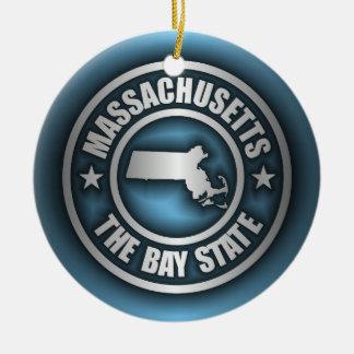 """Massachusetts Steel 2"" Ceramic Ornament"
