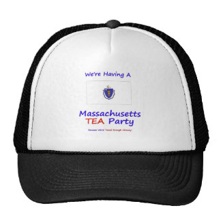 Massachusetts TEA Party We're Taxed Enough Already Trucker Hat