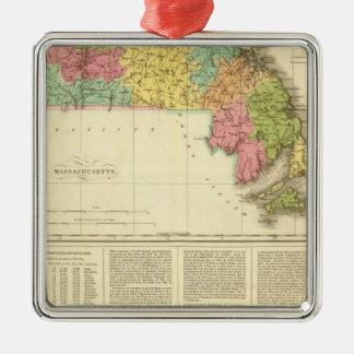 Massachusetts US Metal Ornament