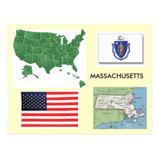 Massachusetts, USA Postcard
