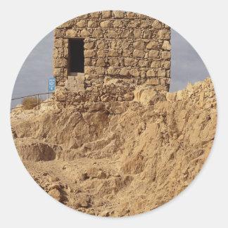 Massada, Israel Classic Round Sticker