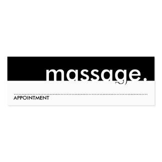 massage. (carte de rendez-vous) modèle de carte de visite