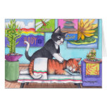 Massage Cats (Bud & Tony) Notecard Card