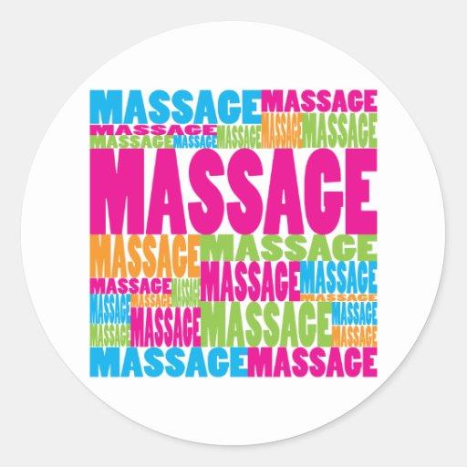 Massage coloré adhésifs ronds