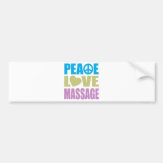 Massage d'amour de paix autocollant de voiture