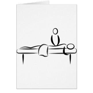 Massage de jour de spa carte de vœux