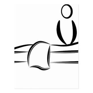 Massage de jour de spa carte postale
