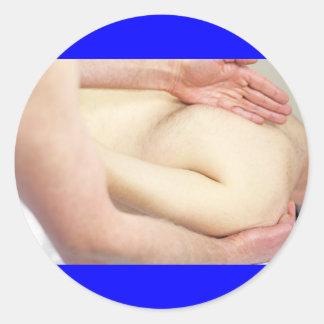 Massage d'épaule adhésifs ronds