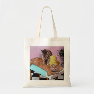 Massage drôle de chat sac en toile budget