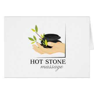 Massage en pierre chaud carte de vœux