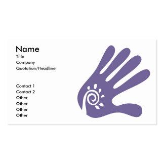 Massage Hand Business Card template