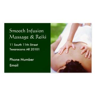 Massage hands on back photo business card