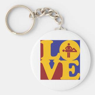 Massage Love Basic Round Button Keychain